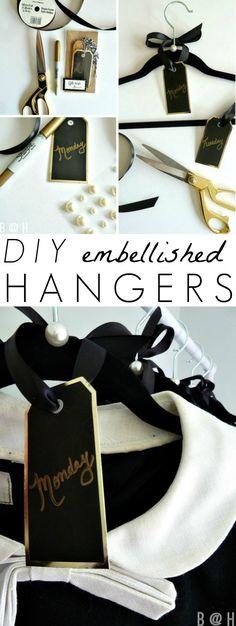 DIY Weekly Clothes Rack & Organization