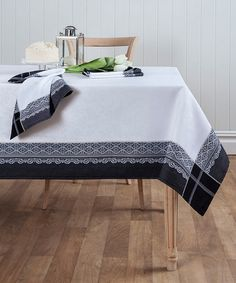 Look at this #zulilyfind! Black Medici Jacquard Tablecloth #zulilyfinds
