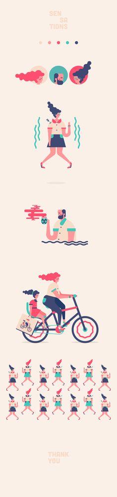 Sensations - Ilustración vectorial on Behance                                                                                                                                                                                 More