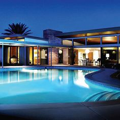 House lust. Just gorgeous.  Frank Sinatra home, Palm Springs