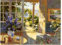 Sunlit Cottage by Marilyn Simandle: Wow, here's one of those pictures that I look for. Wonderful! Note by Roger Carrier