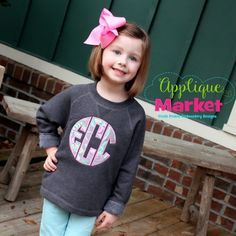 At Applique Market, we have an extensive selection of embroidery fonts and monograms for all applications, from A to Z. Proudly display your initials with this Circle Monogram Applique