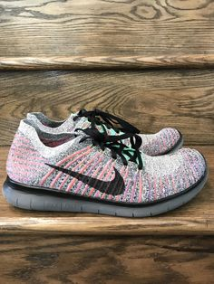 info for 9a254 addec Mens Nike Free RN Flyknit Run Multi Color Running Shoes Sz. 10 ID 831069 -108