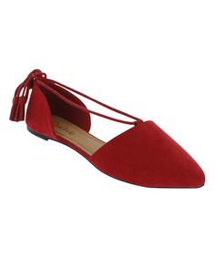 Another great find on #zulily! Red Amanda Flat #zulilyfinds