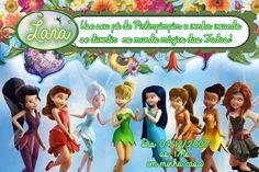 Convite digital personalizado Fadas Disney 026