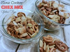 A Busy Mom's Slow Cooker Adventures: Slow Cooker Chex Mix - Gluten-Free
