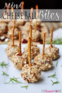 Mini Cheese Ball Bites
