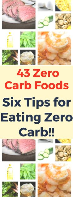 43 Zero Carb Foods + Six Tips for Eating Zero Carb! Read thiss..!!!