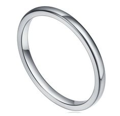 Womens Ring 2mm Tungsten Wedding Fashion Band Luxury Comfort Fit Free World Wide Shipping