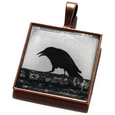 Steampunk Black Crow Gothic Photo Pendant  by HConwayPhotography, $10.00