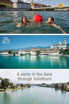 Cool down during summer in Solothurn Outdoor Swimming Pool, Swimming Pools, Switzerland Tourism, Urban, River, Adventure, Architecture, World, City