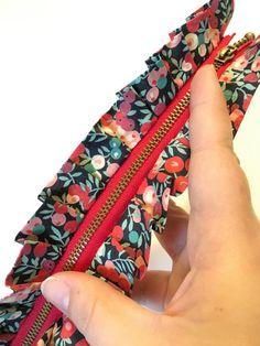 Ruffle Zipper Tutorial Ruffle Zipper Pouch