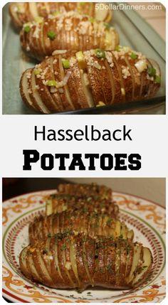 Fast and Easy Hasselback Potatoes Recipe Potato Dishes, Potato Recipes, Side Dish Recipes, Dinner Recipes, Side Dishes, Yummy Recipes, Healthy Potatoes, Hasselback Potatoes, Food Allergies
