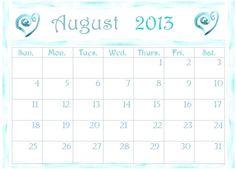 August 2013 Calendar Printable → http://www.embracinghome.com/august-2013-calendar-printable/
