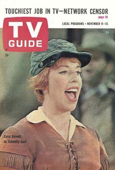 "TV Guide, November 9, 1963 - Carol Burnett as ""Calamity Jane"""