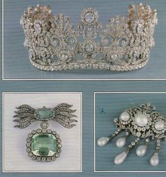 Jewellery once beloing to the THURN UND TAXIS family, including an impressive diamond tiara. German 16th century family
