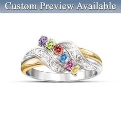 A Mother's Embrace Of Love Personalized Birthstone Ring - make your own birthstone ring... amazing!