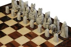 Isle of Lewis Luxury Walnut Chess Set. Available @ http://www.officialstaunton.com/collections/themed-chess-sets/products/isle-of-lewis-luxury-walnut-chess-set