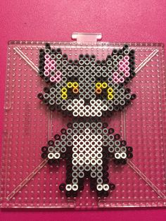 Tom Cat perler beads done by BreAnda Robbins