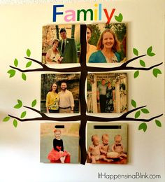 How to Create a Vinyl Family Tree with the Silhouette - It Happens in a Blink