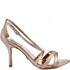 This Badgley Mischka style is simple and utterly sophisticated.  Walda features a rose gold metallic upper with crossing straps and adjustable side strap.  This style brings you a small 3 inch stiletto heel to perfect your party dress.
