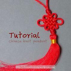 Chinese knot, diy, etsy, handmade, knotting, tutorial, 中國結 Tutorial: Chinese knot pendant