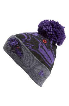 84bc2b62a New Era Cap  Logo Whiz - Baltimore Ravens  Pompom Knit Beanie New Era Cap