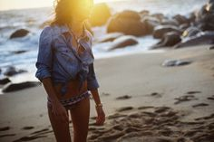 chambray and a swim suit