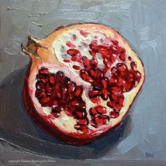 Open Pomegranate Study I via Small Works by HW-Dixon. Click on the image to see more!