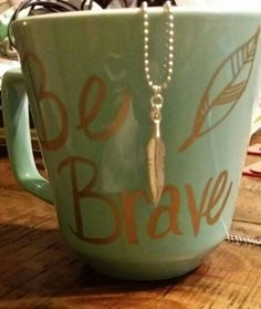 Cups or mugs? Be brave - I love this! Mops Theme, Be You Bravely, Girls Bible, Girls Camp, Creative Activities, Mini Me, Girl Scouts, Homemade Gifts, Things That Bounce