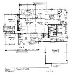 Check out the first floor of conceptual house plan 1506. #WeDesignDreams #DonGardnerArchitects