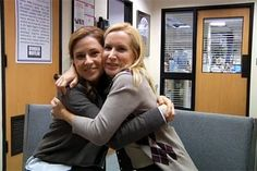 """pics from the office dwight and angela   The Office"""" co-stars Jenna Fischer and Angela Kinsey."""