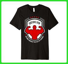 Mens Gaston's Gym Premium T-Shirt Medium Black - Workout shirts (*Amazon Partner-Link)