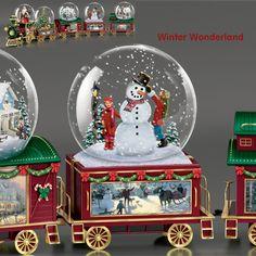 Snow Globe Train Car