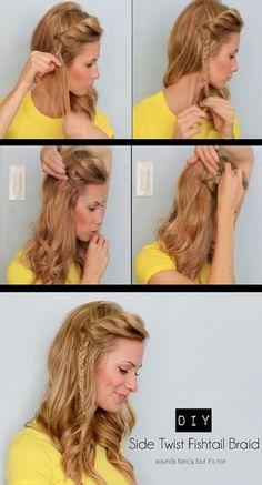 peinados / Side Fishtail Braid