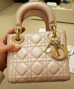 845fb988c3142 Authentic Dior Lady Dior Mini Bag in Pearly Pink Colour  fashion  clothing   shoes