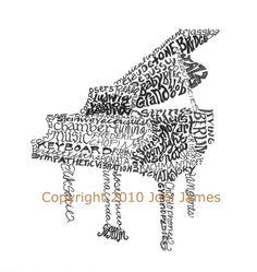 Baby Grand Piano Art  http://pinterest.com/cameronpiano