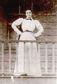 A 1905 photo of Jennie Bauters-Jerome ,who was AZ's most famous and loved madam.Jennie's lover, Clement Leigh, needed money for a bad debt. He headed to Jennie's place with a gun, demanding she hand over her cash. They argued and Jennie tried to flee from the building. He chased her, firing several shots which wounded her as she ran into the street. He approached the paralyzed woman, firing a fatal shot to her head. He then shot himself in the chest. He survived, but was hung for murder in 1...