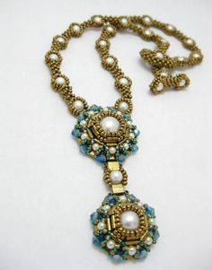 Cleopatra Necklace Cubic and RAW Peyote Bead Pattern by MyAmari