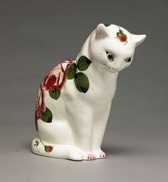 Wemyss ceramic cat figurine