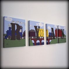 sequenced canvas paintings