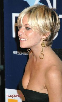 I can't tell you how many times I've seen this exact photo brought into the salon!  A great in-between option for short hair.  Still soft & feminine. #shorthair #haircut