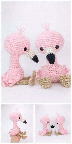 - Amigurumi Flamingo Free Pattern – Free Amigurumi Patterns Amigurumi Free, Amigurumi Doll, Free Amigurumi Patterns, Easy Knitting Projects, Crochet Projects, Crochet Flamingo, Knitting Patterns, Crochet Patterns, Crochet Dinosaur Pattern Free