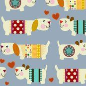 woo woo woofers blue fabric by scrummy for sale on Spoonflower - custom fabric, wallpaper and wall decals