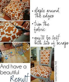 How to reupholster a chair #diy