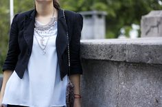 Statement Necklace + Accessories Ideas + Fashion Blogger Outfit