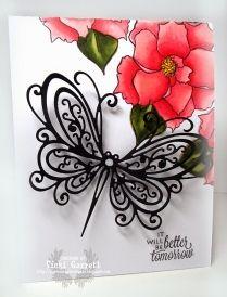 Open Scroll Butterfly