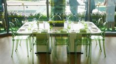 Welcome to Wimbledon 2014! In the pic: Victoria Ghost chairs by Philippe Starck Credits: Todd Sloane Creative