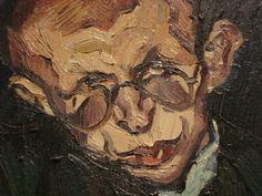Portrait of Max Herrmann-Neisse, by Ludwig Meidner Ludwig Meidner, Chaim Soutine, Alberto Giacometti, Norman Rockwell, Henri Matisse, Art Studies, Figure Painting, 21st Century, Artsy Fartsy