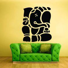 Wall Vinyl Decal Sticker Decal Elephant Ganesh Ganesha India Buddha  z247
